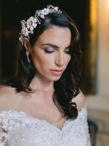 VANESSA Floral Bridal Headpiece