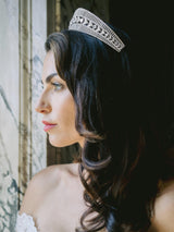 QUINN Simulated Diamond Bridal Tiara