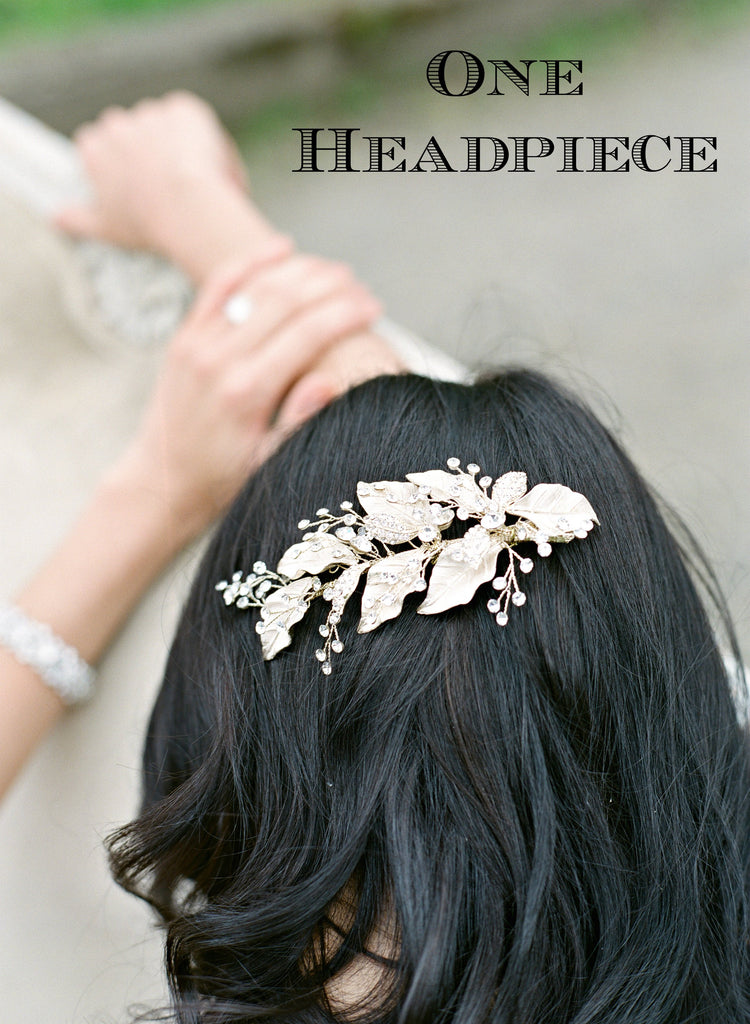 CONRAD Gilded Leaves Bridal Headpiece