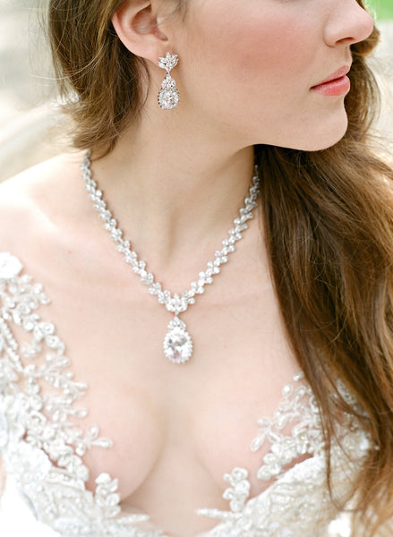 CORINNE Regal Bridal Earrings