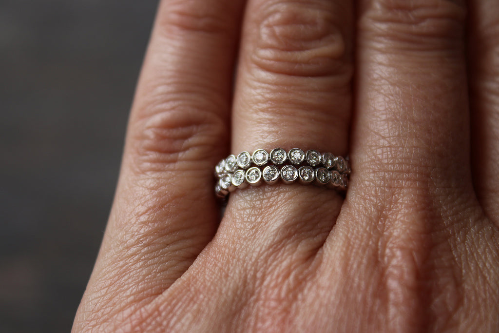 Eternity Band Set on Hand