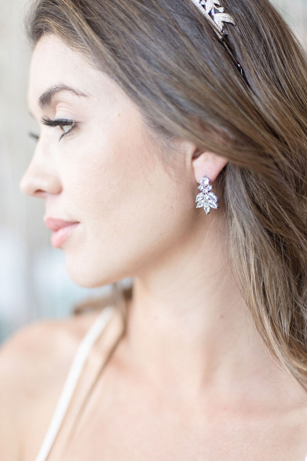 CRESSIDA Simulated Diamond Cluster Earrings