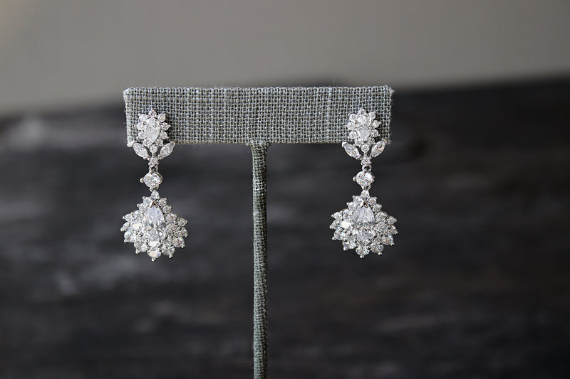DIANE Simulated Diamond Statement Earrings