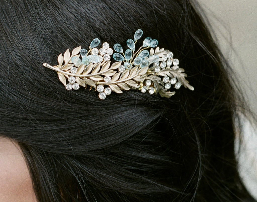 DUCHESS Swiss Blue Topaz Headpiece