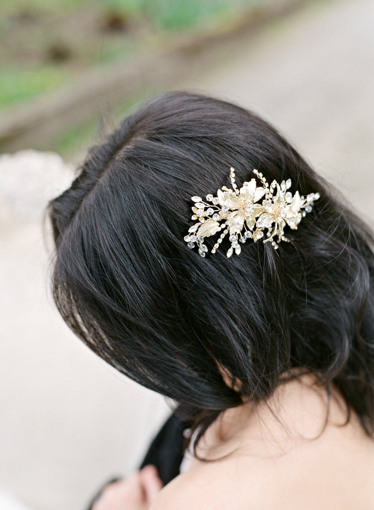 Gold Leaf Wedding Headpiece