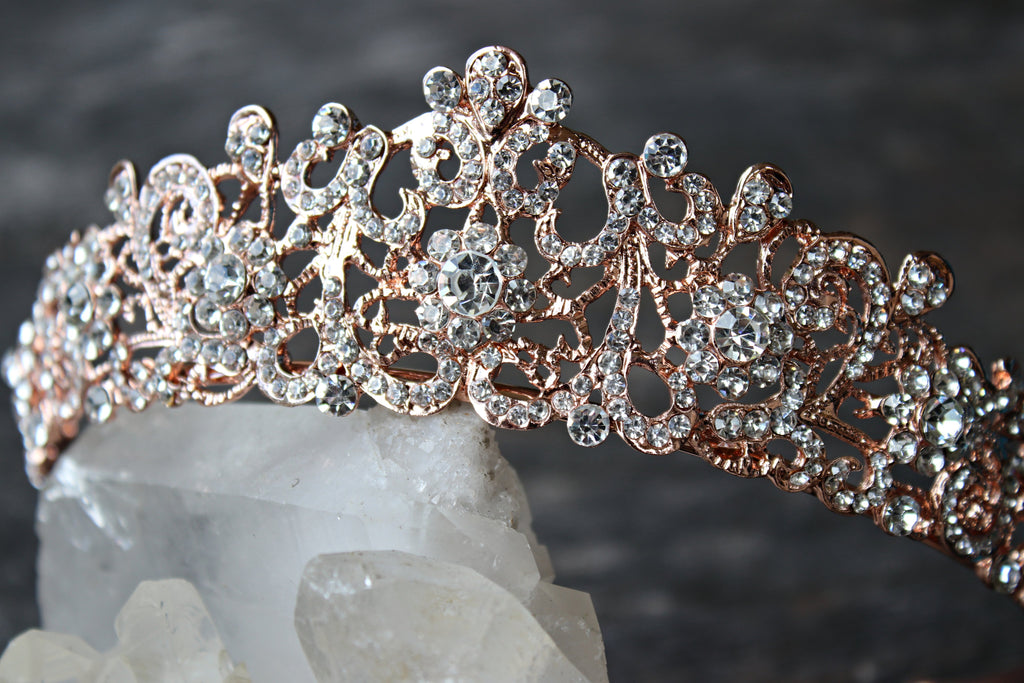 Rose Gold Wedding Tiara