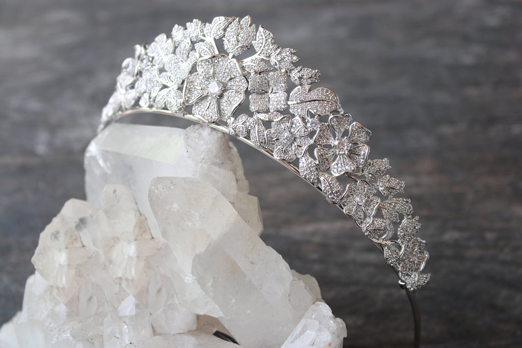 ELLINA Simulated Diamond Bridal Tiara