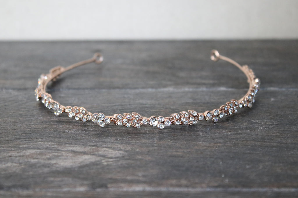 ELOISE Thin Crystal Headband Tiara