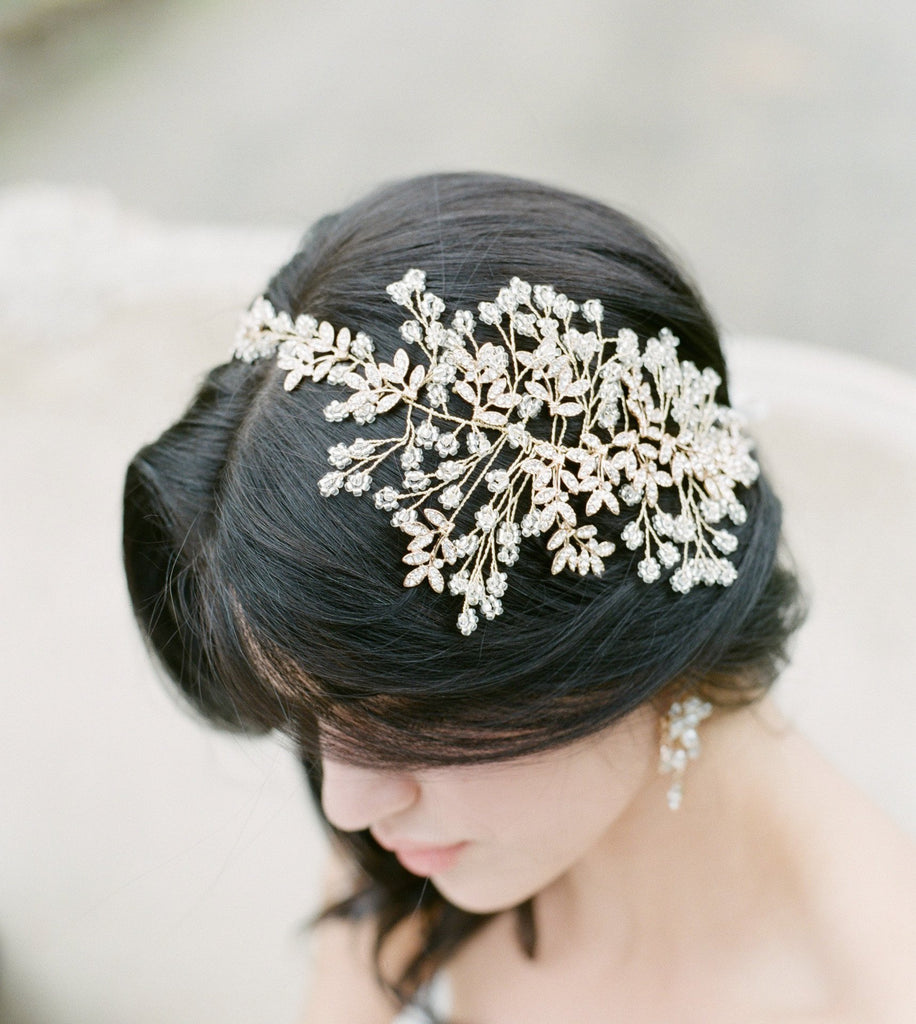 FIONA Beaded Bridal Headpiece