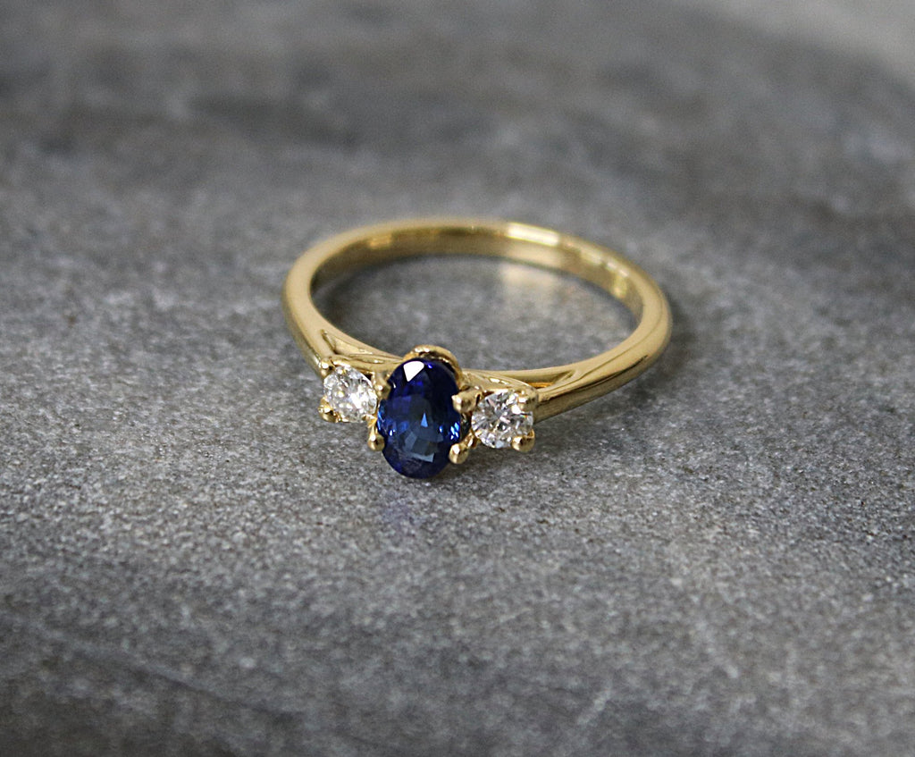 FIRENZE Sapphire and Diamond Engagement Ring 1.00