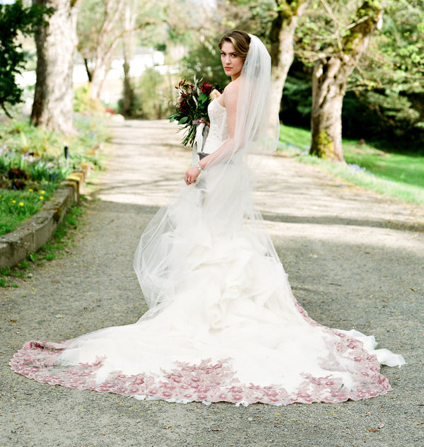 FREYA Couture Beaded Cathedral Veil