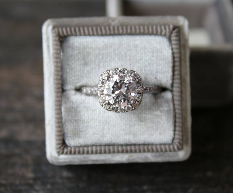 GRETA Vintage Inspired Bespoke Diamond Engagement Ring