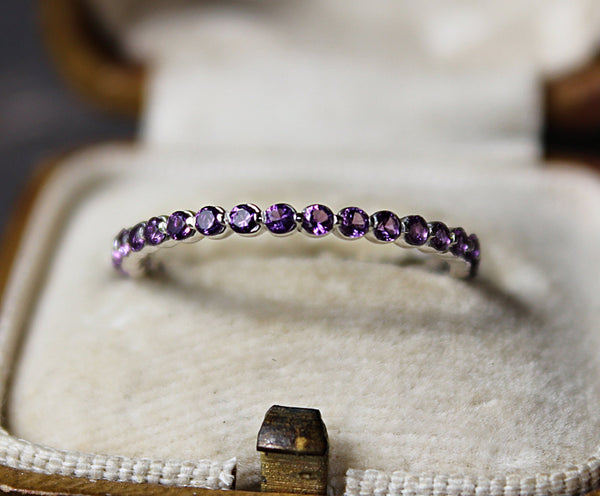 Amethyst Stackable Ring
