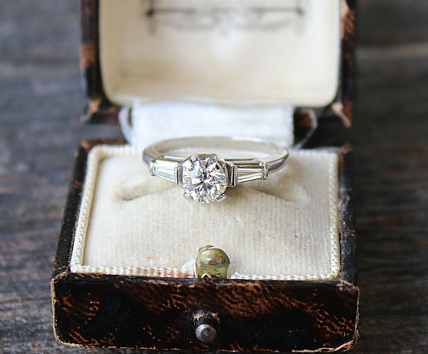 MONTPELLIER Vintage Diamond Engagement Ring 0.91