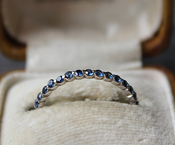 SAPPHIRE Stackable Eternity Band