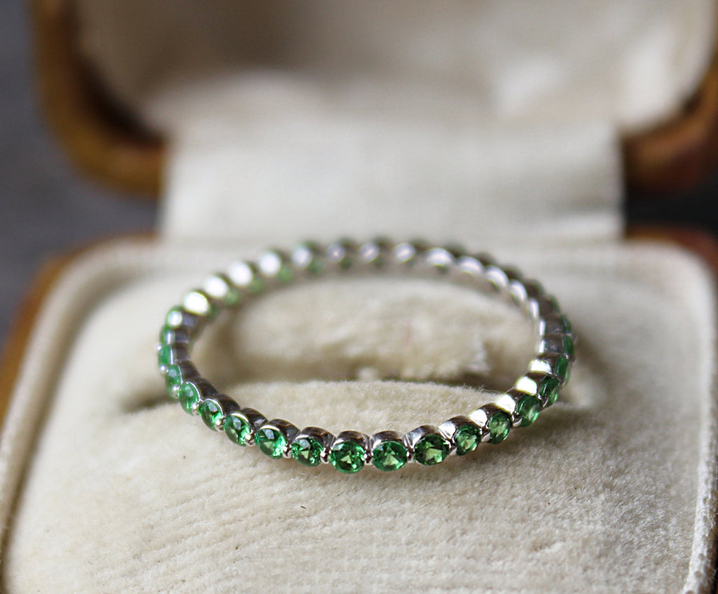 Vintage Tsavorite Eternity Band