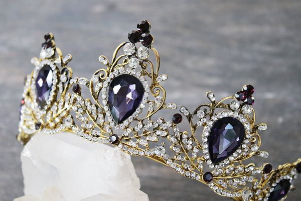 Bridal Tiara with Colored Stones | EDEN LUXE Bridal