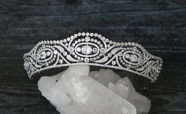 HYACINTH Simulated Diamond Bridal Tiara