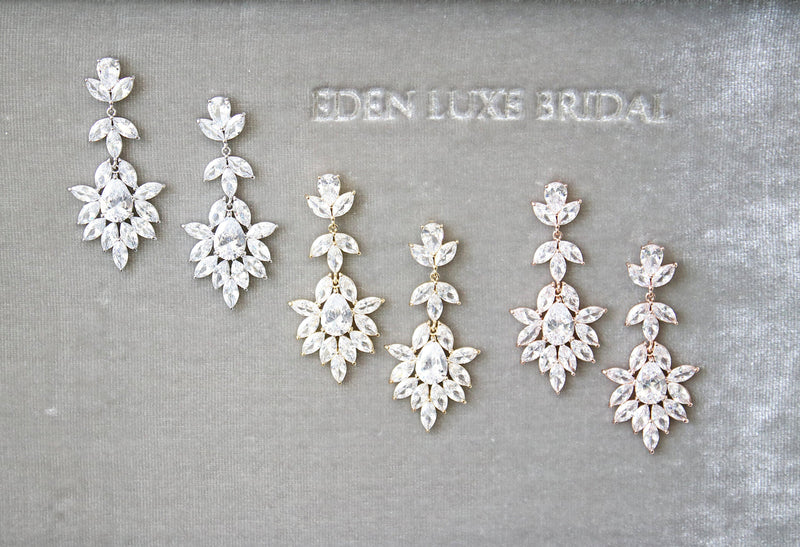 Bridal Earrings | EDEN LUXE Bridal