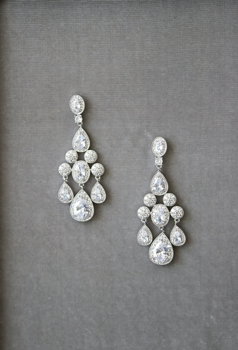 ISABELLA Bridal Chandelier Earrings
