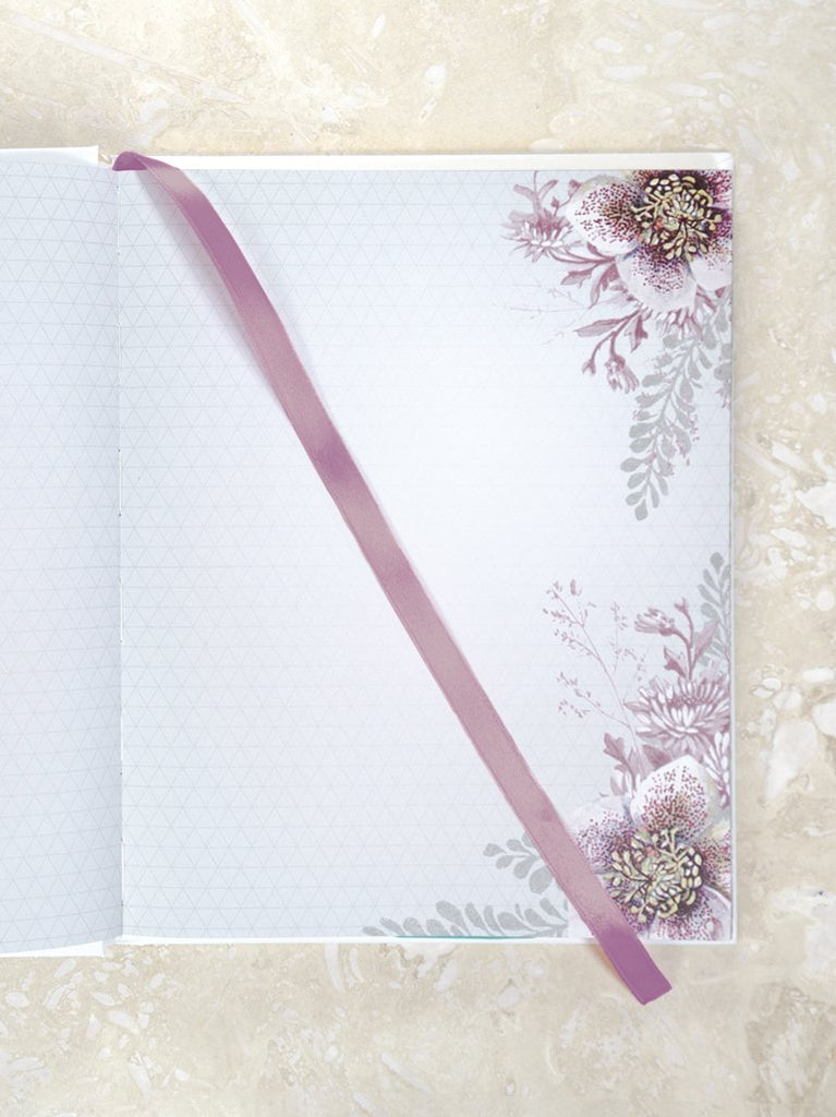 Hellebore Floral Hardcover Journal by PAPAYA