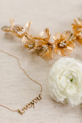 JILLIAN Gilded Blossoms Headpiece