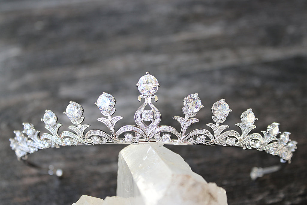 KELLY ANNE Simulated Diamond Bridal Tiara