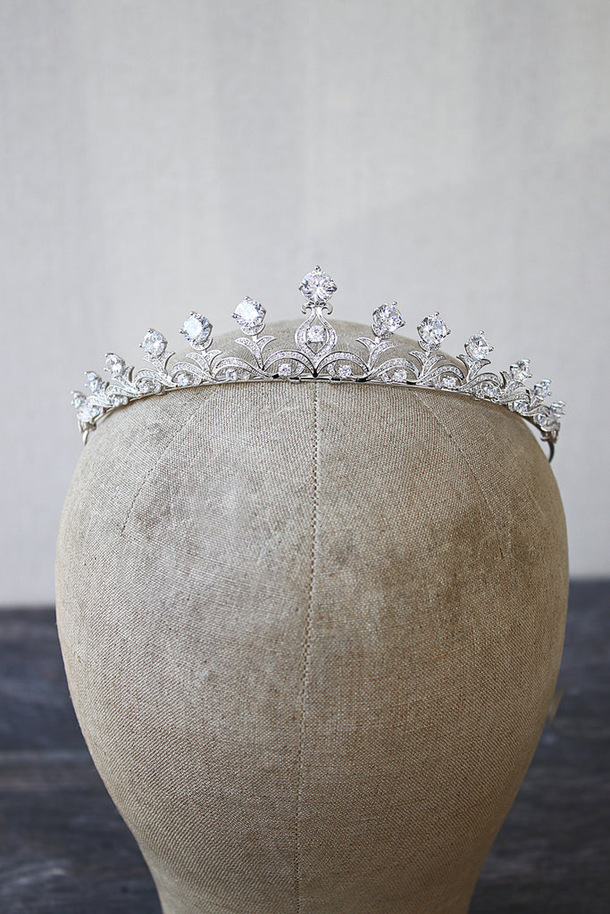 KIMBERLY Simulated Diamond Bridal Tiara