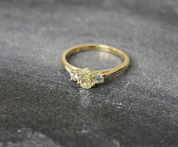 LINDEN  Fancy Yellow Diamond Engagement Ring 0.96
