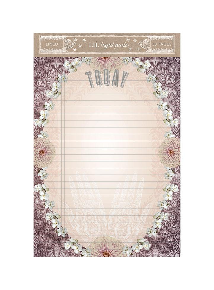 Henna Little Legal Pad by PAPAYA