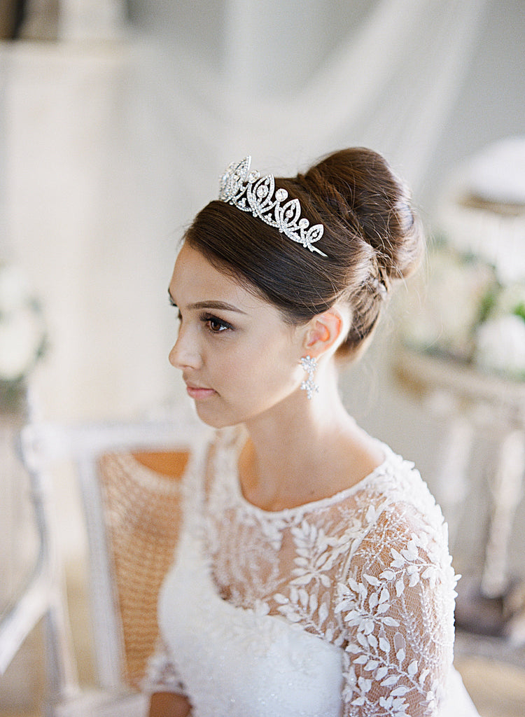 Bride Wearing Tiara | EDEN LUXE Bridal