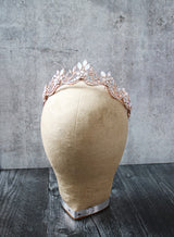 MAELYNN Rose Gold Bridal Tiara