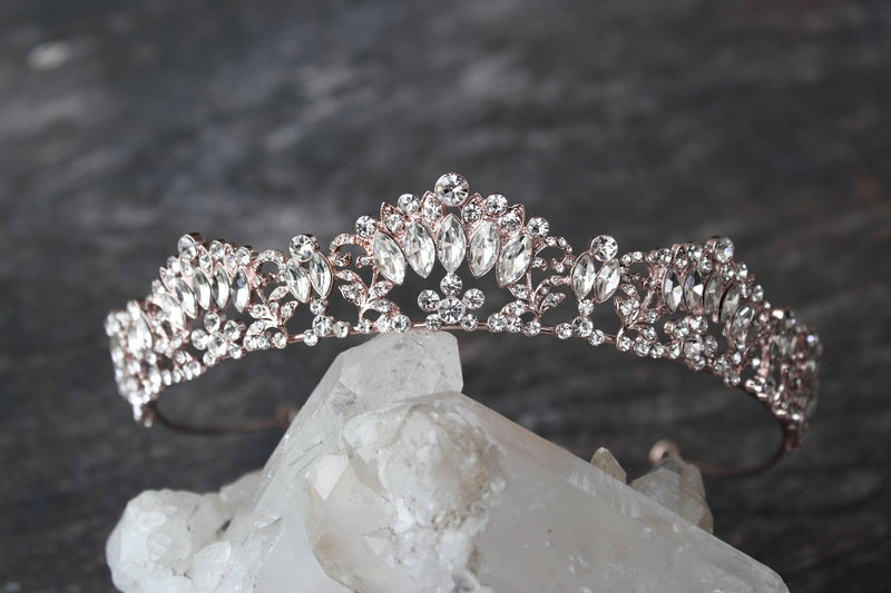 MARQUISE Rose Gold Tiara