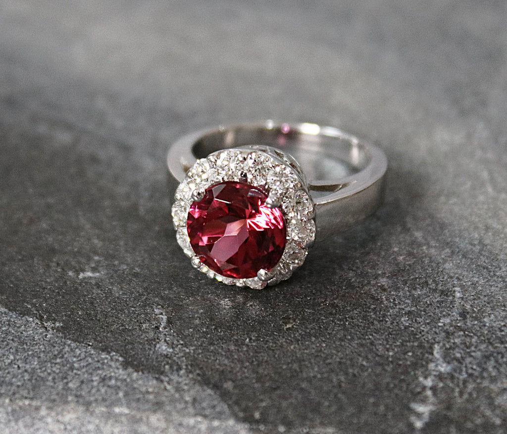 MONTREUX Pink Tourmaline and Diamond Engagement Ring 4.0
