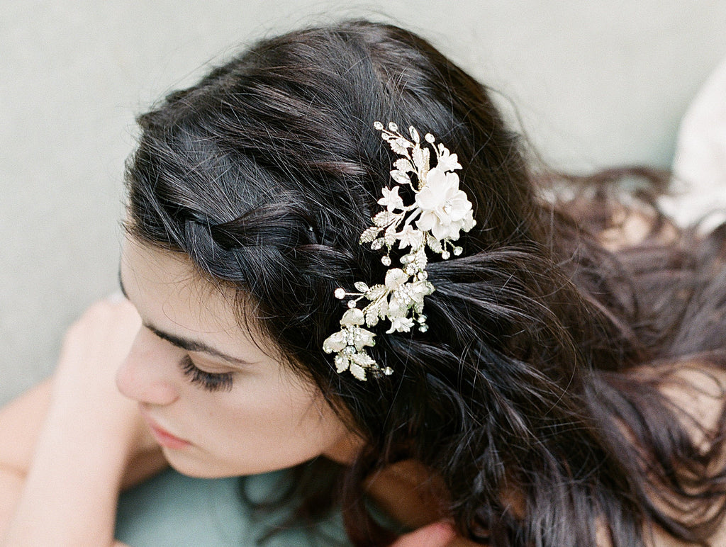 MORGAN Floral Bridal Hairclip