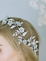 BECKWITH Simulated Diamond Floral Bridal Headpiece
