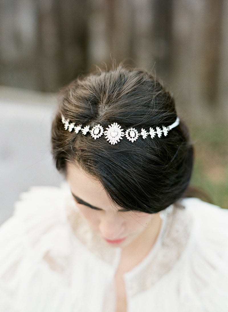 NALA Simulated Diamond Art Deco Headpiece
