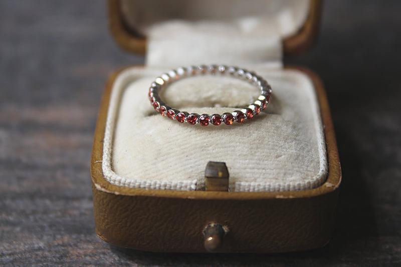 Padparadscha Eternity Band Ring