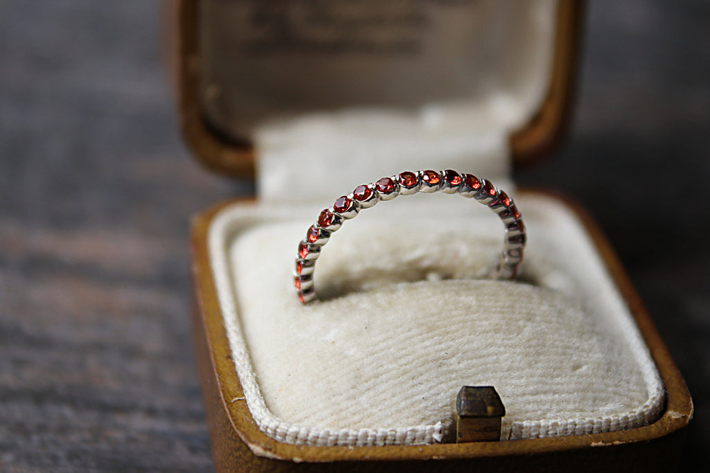 Padparadscha Stackable Ring