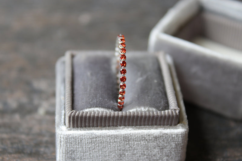 Padparadscha Sapphire Ring in Mrs Box