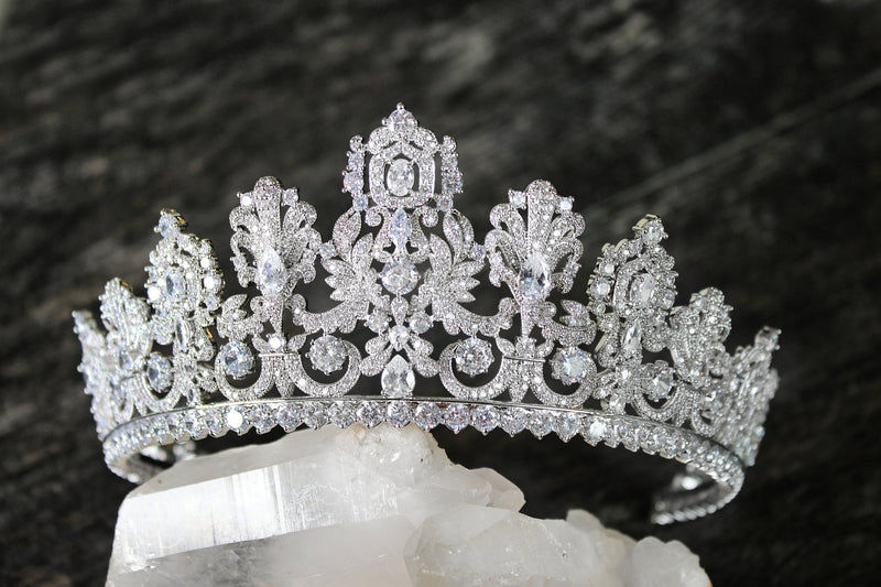 Petite PERSEPHONE Royal Bridal Crown