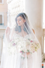 LUCINDA Lace Drop Cathedral Bridal Veil