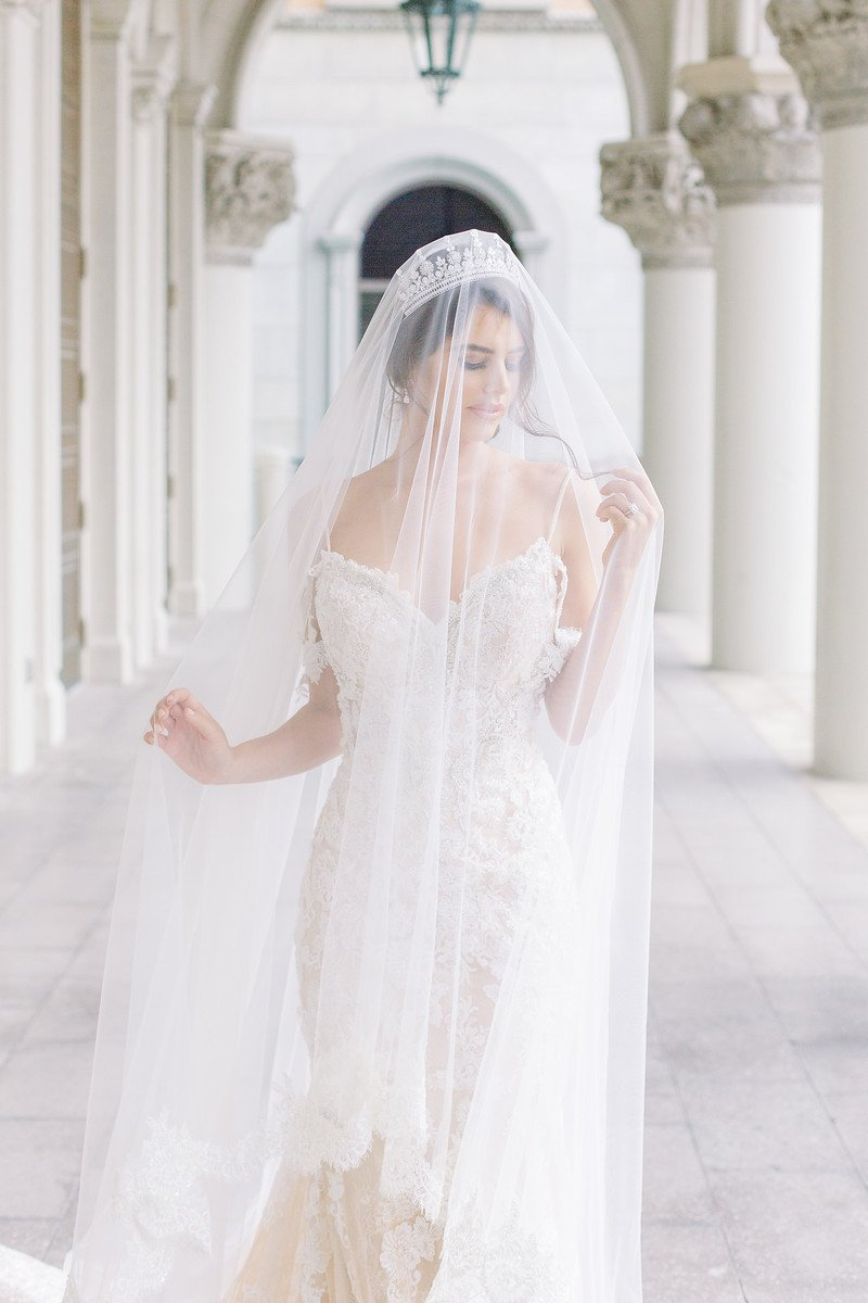 PIPPA Lace Cathedral Drop Veil