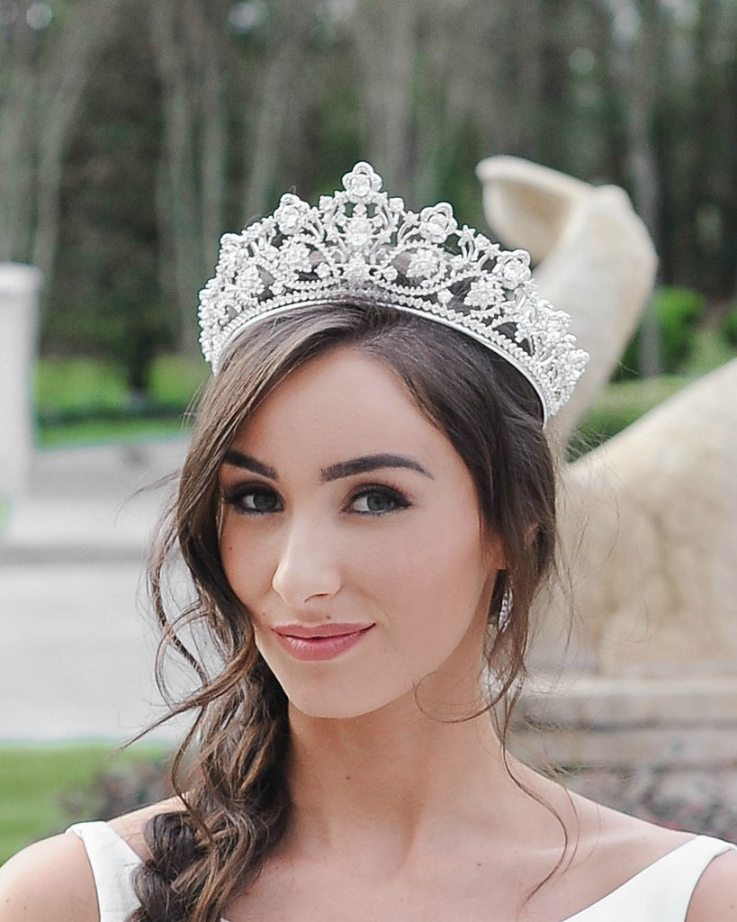 PAIGE Simulated Diamond Bridal Tiara