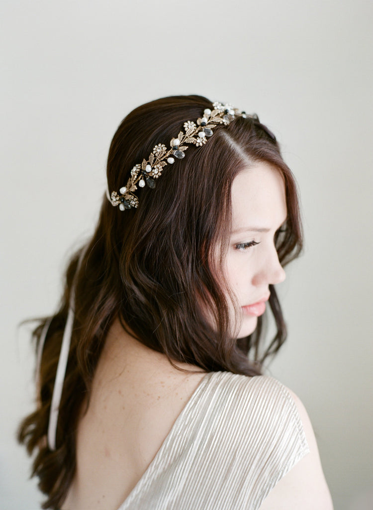 VERONIQUE Swarovski Crystal Bridal Headpiece