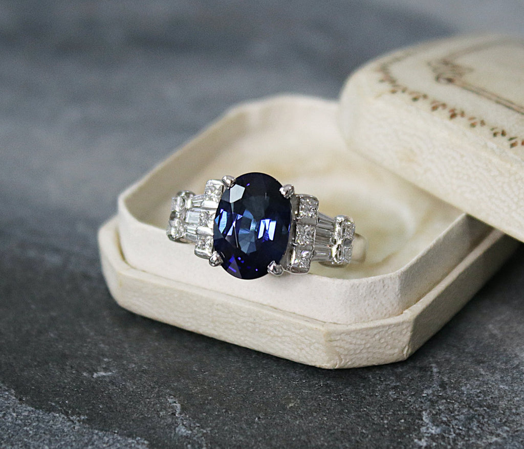 MANCHESTER Sapphire and Diamond Engagement Ring 4.51