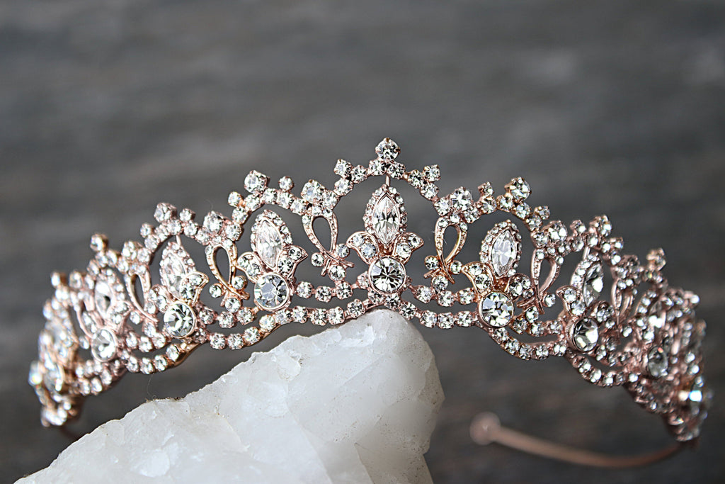 Bespoke GRAND SERENA Rose Gold Tiara - for Miranda