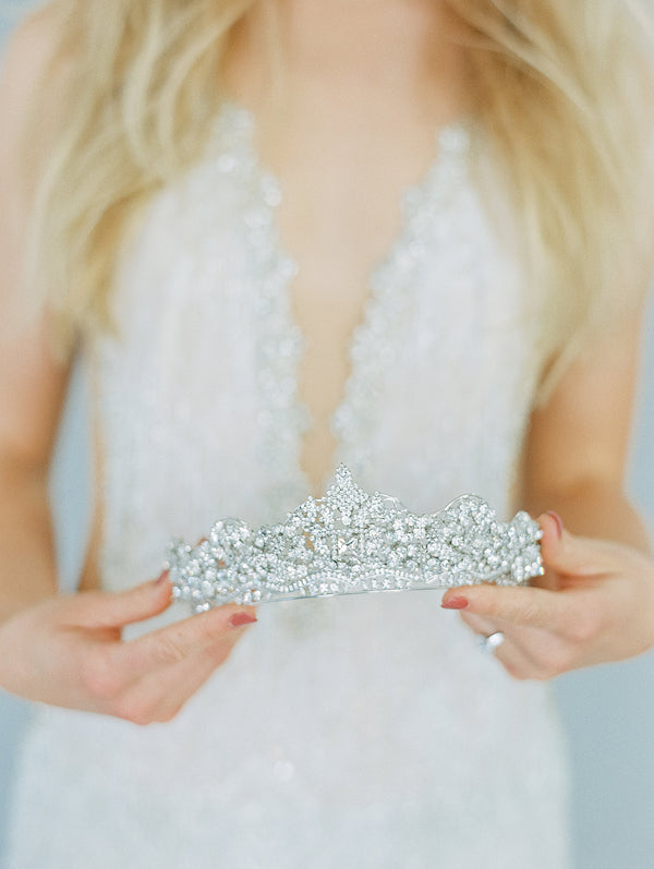Bespoke Swarovski SHELLIE Bridal Tiara for Manika