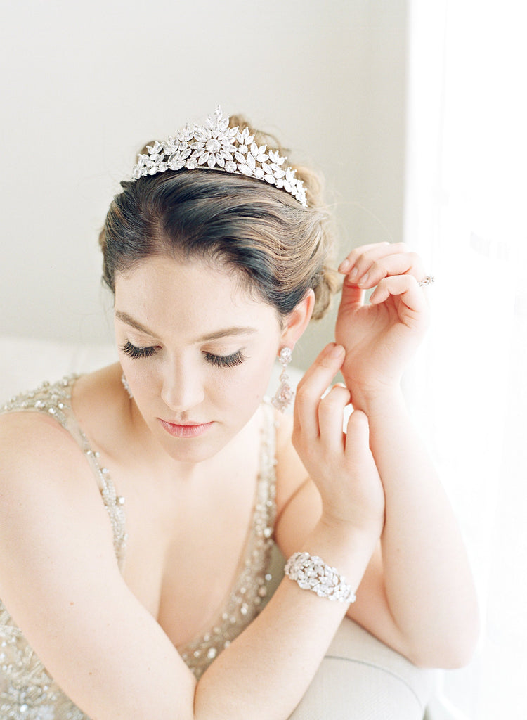 Bride Wearing Tiara