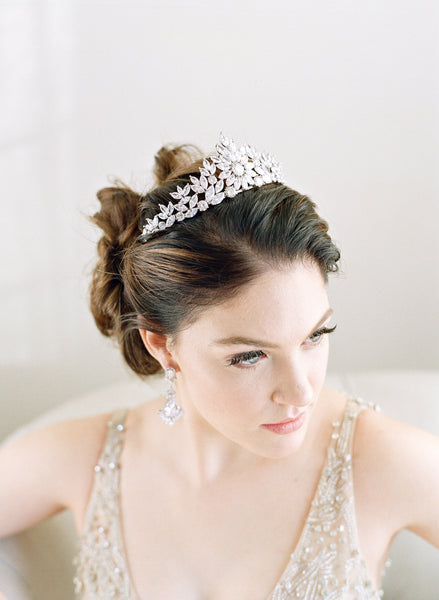 Elegant Bride Wearing Tiara
